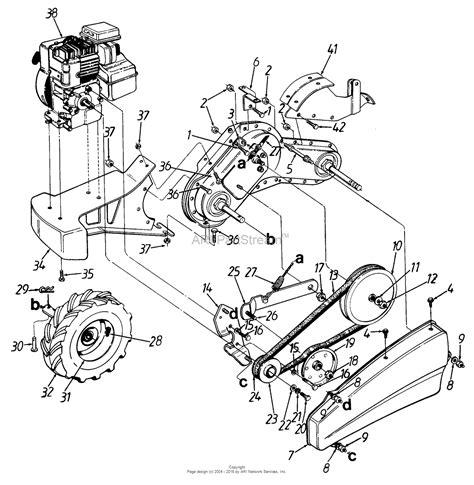 mtd     parts diagram  rear tine tiller