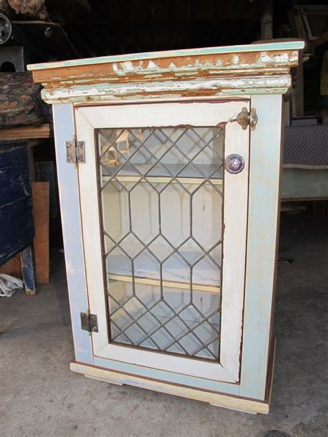 small cabinet with doors small cabinet leaded glass door vintage mirrors