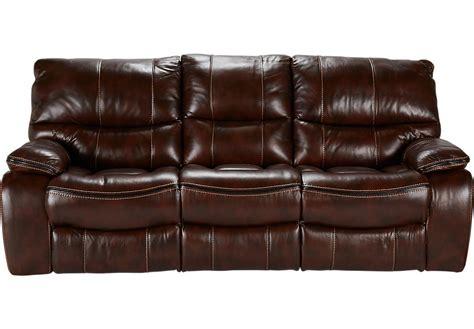 tan leather reclining sofa cindy crawford home gianna brown leather reclining sofa