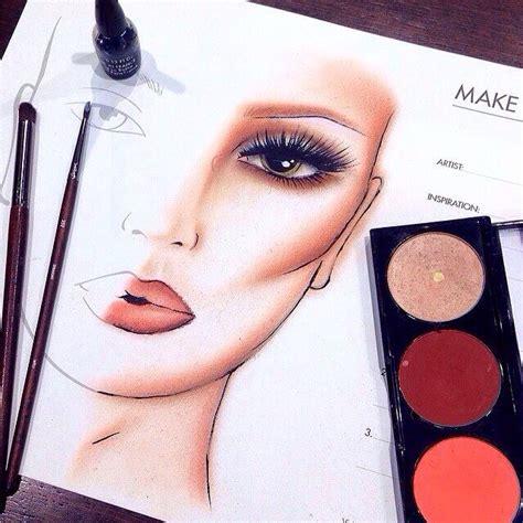 makeup  face chart makeup face charts makeup