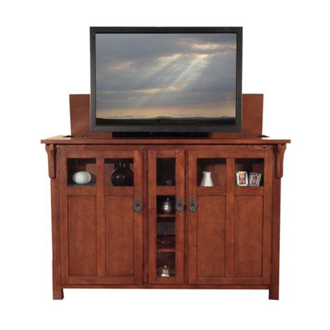 tv lifts cabinets touchstone 70152 adonzo unfinished tv lift cabinet for tvs