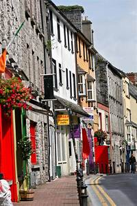 Street Scene Galway Stock Image  Image Of Name  Shop