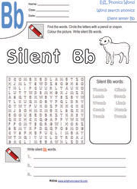 Esl Phonics World  Silent Letter Worksheets