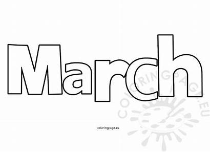 Month March Clipart Coloring Months