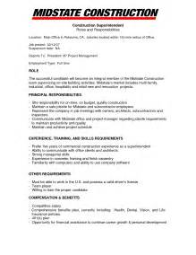 construction project manager description for resume project manager construction resume