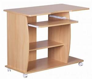 Pc Tisch Groß : design computertisch wei mit rollen 90 cm schreibtisch pc ~ Lizthompson.info Haus und Dekorationen