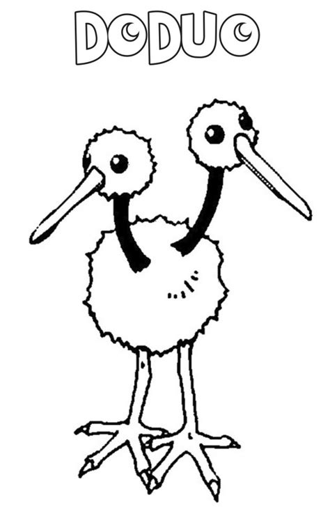 immagini di pokémon da disegnare doduo da colorare