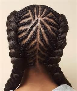 Cornrow Braid Hairstyle