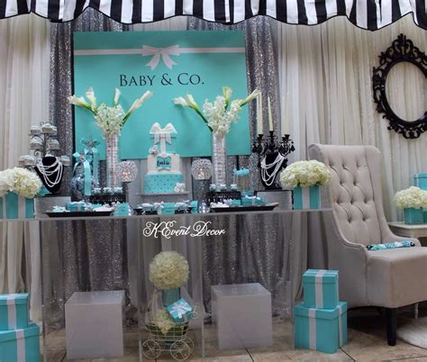 baby shower table decor tiffany themed baby shower main table decoration ideas baby and co ideas baby shower ideas