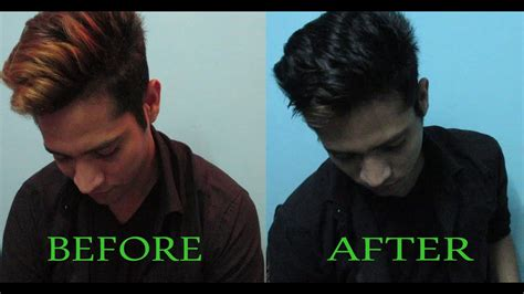 How To Dye Mens Hair At Home Blonde To Black Mens Hair