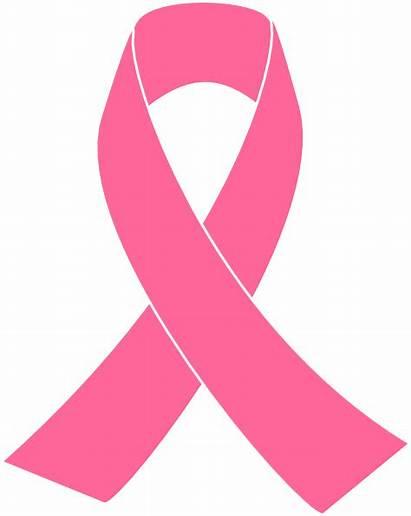 Ribbon Pink Awareness Clip Vector Cancer Breast