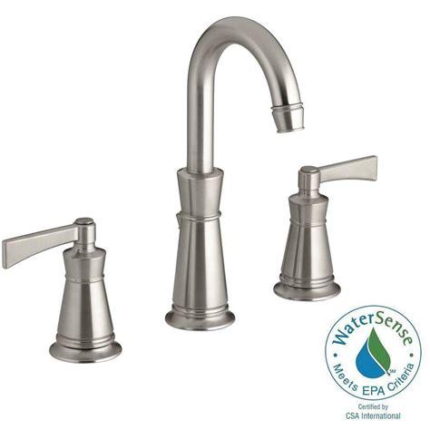 moen hensley 8 in widespread 2 handle bathroom faucet in