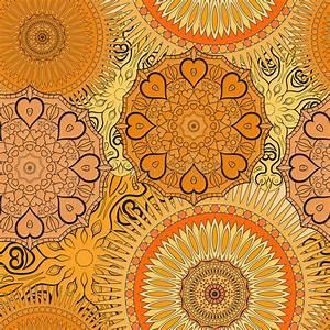 nahtloses gelbes muster mit orientalischen mandalen islam With balkon teppich mit tapeten asiatische motive