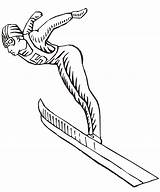 Coloring Pages Ski Olympics Winter Jumping Colouring Jumper Jump Olympic Printable Skiing Disney Printactivities Coloriage Flight sketch template