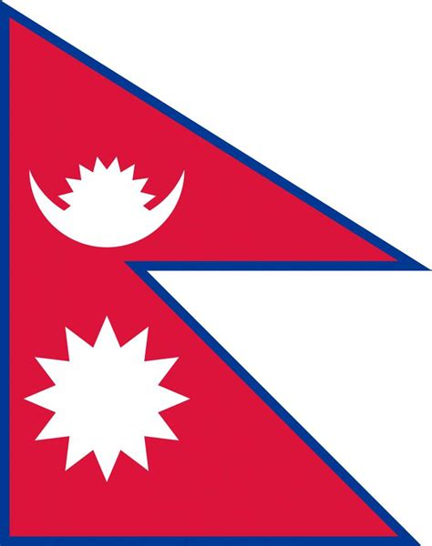 nepal flag vector country flags
