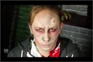 Gruselige Hexe Schminken : video halloween gesicht schminken anleitung f r den zebrakopf ~ Frokenaadalensverden.com Haus und Dekorationen