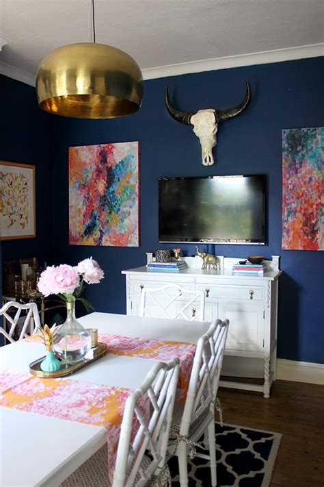 Sweet Swoon Worthy Spaces by On Fridays We Wear Pink And Navy Blue And White