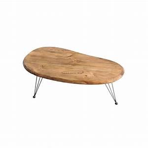 Table Basse Vintage Bois : table basse vintage en bois et acier jetson ~ Melissatoandfro.com Idées de Décoration