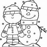 Coloring Snowing Winter Fun Popular sketch template