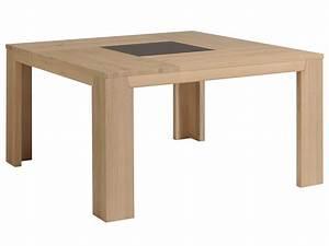 Table A Manger Bois : table manger carr bois et verre bruts naturel ~ Preciouscoupons.com Idées de Décoration