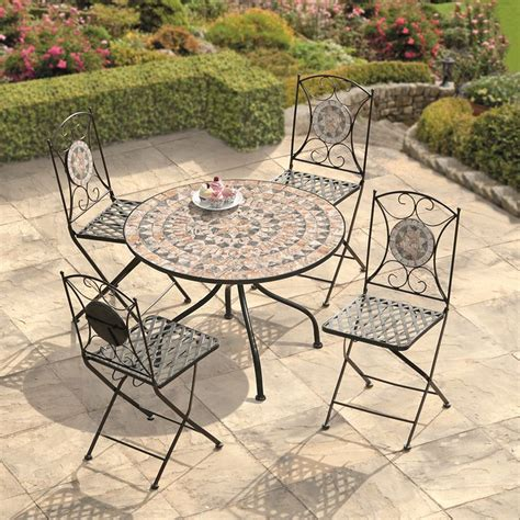 tuscany person mosaic tile garden furniture patio
