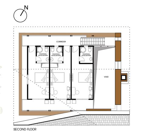 house plans design gallery of nam dam homestay and community house 1 1 gt 2