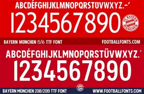 Bayern Munchen 2018-2019 Font (ttf)