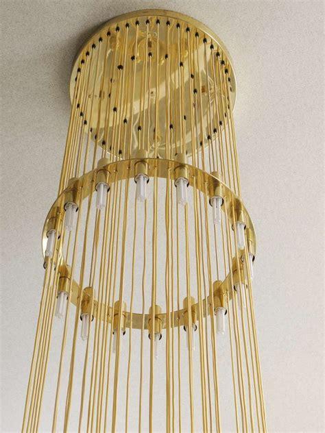 large lobmeyr vienna multilevel stairway brass chandelier  stdibs