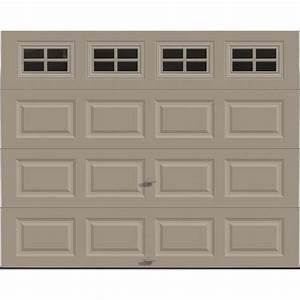 ideal doorr stockton 9 ft x 7 ft 5 star sandtone insul With 9 x 7 insulated garage door prices