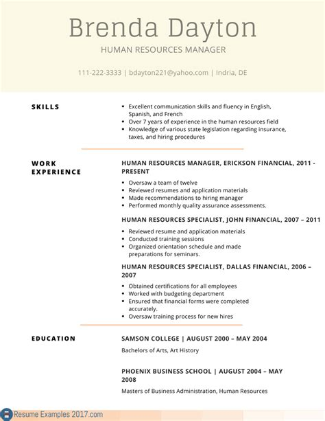 resume exles 2017 business resume ixiplay free resume