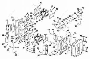 evinrude 1986 100 e100wtxcdr intake manifold parts With diagram of 1986 e70elcdc evinrude intake manifold diagram and parts