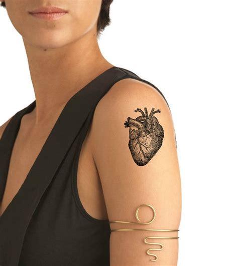 temporary tattoo  anatomical heart temporary tattoos