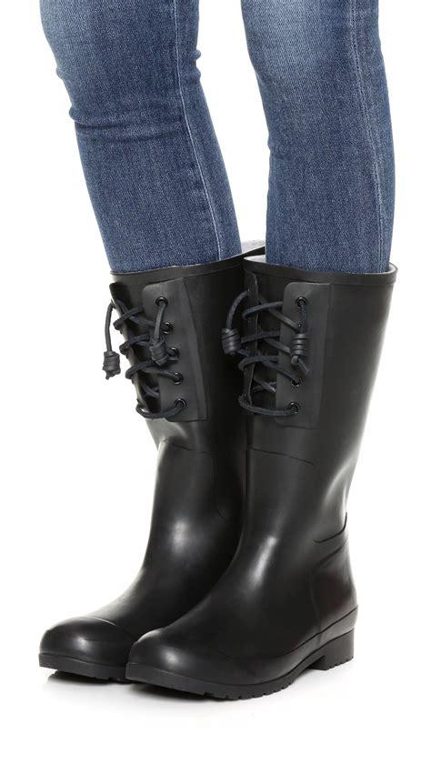 Boat Shoes In Rain by Lyst Sperry Top Sider Walker Spray Rain Boots In Black