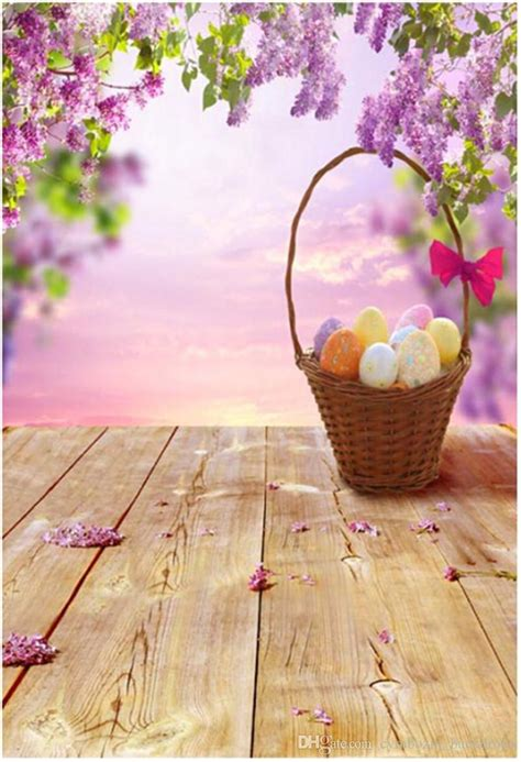 happy easter photography backdrops wood floor