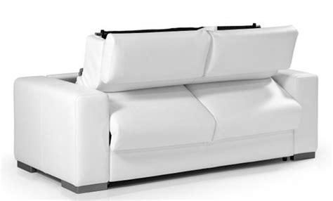 canapé convertible cuir blanc canapé convertible en cuir blanc torino meuble et