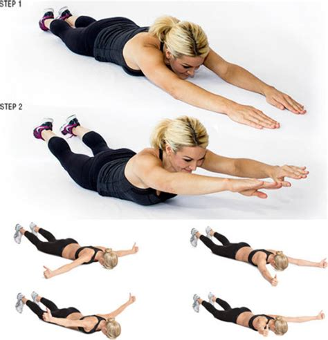 Floor Lowers Fast by 15 Back Sculpting Exercises To Reduce Back