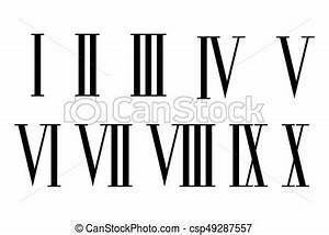 20 En Chiffre Romain : chiffres romain set chiffres ensemble isol arri re plan romain blanc ~ Melissatoandfro.com Idées de Décoration
