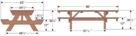 Picnic Bench Dimensions by Workbench Plans Diy Workbench Plans For A Garage Diy Ideas