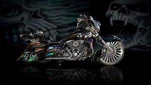 Cool Airbrushed Motorcycle HD Wallpaper - WallpaperFX