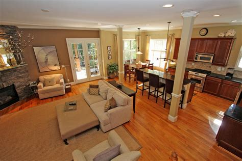 kitchen and living room color ideas open kitchen living room paint ideas smith design 2014