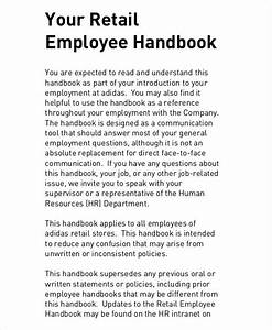 stores procedures manual With employees handbook free template