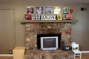 the den playroom before after asteed39slife With best brand of paint for kitchen cabinets with metal wall art above fireplace