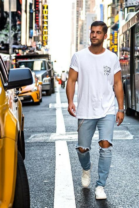 Ripped Jeans Mens Fashion - Oasis amor Fashion