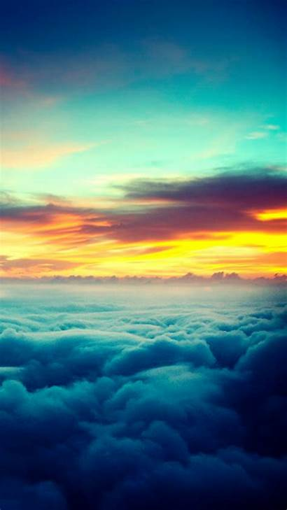 Iphone Wallpapers Clouds Sunset Nature Above Sky