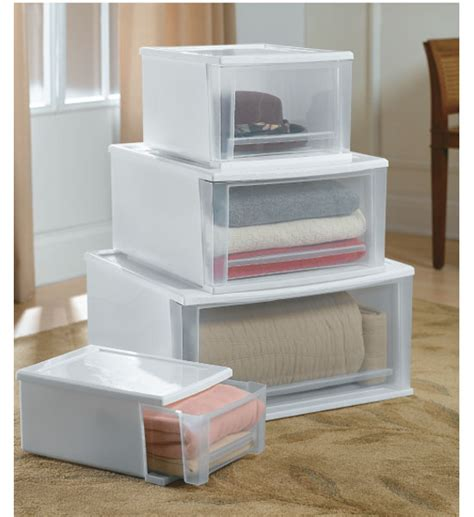 storage cube organizer stackable plastic storage drawers white in storage drawers