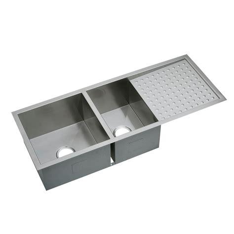 kitchen sink with drainboard elkay crosstown undermount stainless steel 47 in 8808