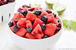 Watermelon Fruit Salad - Yummy Healthy Easy