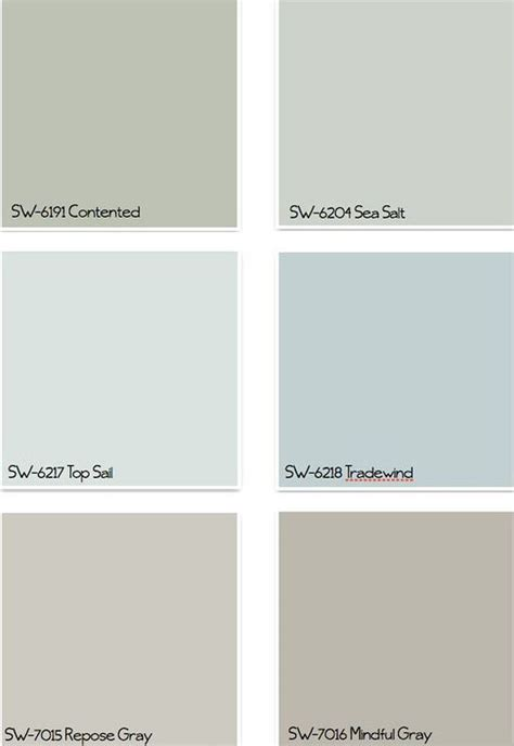 image result for sherwin williams sea salt paint colours