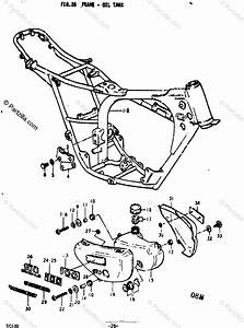 Suzuki Motorcycle 1973 Oem Parts Diagram For Frame