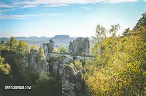 Bastei Bridge Elbe Sandstone Mountains Germany